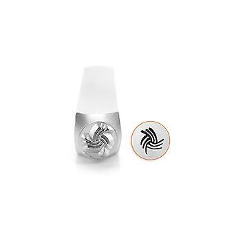 Impressart Angled Swirl Line Texture Stamp 6mm