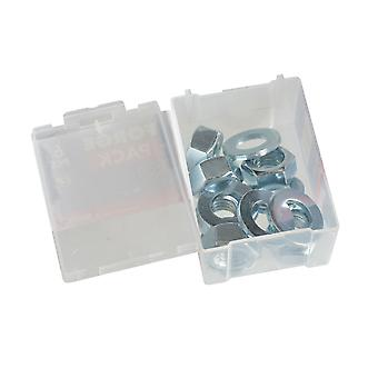 Forgefix Hexagonal Nuts & Washers ZP M12 Forge Pack 6 FORFPNUT12