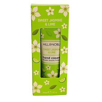 Hill & Noble Hill and Noble Hand Cream Nourish, Smooth, Protect 30ml Sweet Jasmin and Lime