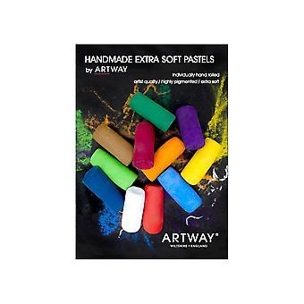 Artway Premium Soft Pastels - Set di 12 Pastelli morbidi fatti a mano, di qualità artista, ad alto pigmento Soft Pastels