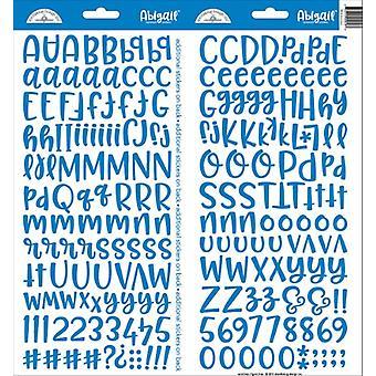 Doodlebug Design Blå Jean Abigail Klistermärken
