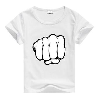 Summer Cotton Short Sleeve T-Shirt, Clenched Fist