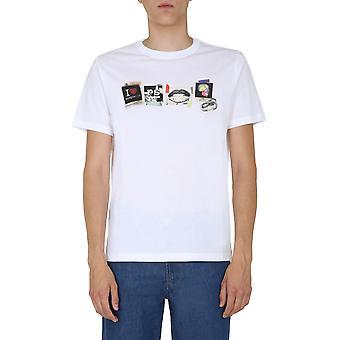 Ps Door Paul Smith M2r011rep214101 Men's White Cotton T-shirt
