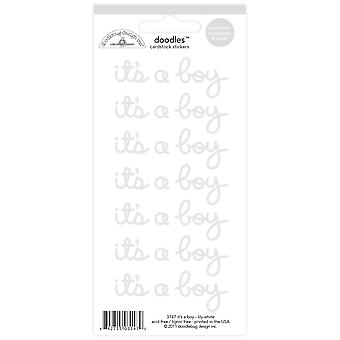 Doodlebug Design Lily White It's a Boy Doodles Stickers