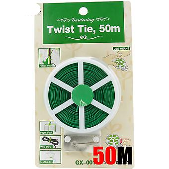 Plant Twist Tie With Cutter-plastic Coated Wire
