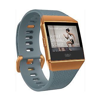 fitbit - ساعة ذكية - أيونيك - لائحة الأزرق المحروق البرتقالي - FB503CPBU-EU