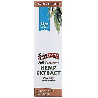 Barlean's, Full Spectrum Hemp Extract, Natural Mint, 21 mg, 1.5 fl oz (45 ml)