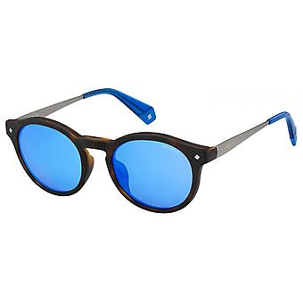 Sunglasses Unisex 608145Z/EX Panthos brown/blue