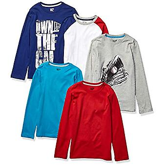 Brand - Spotted Zebra Boy's 5-Pack Long-Sleeve T-Shirts, Game Time, La...