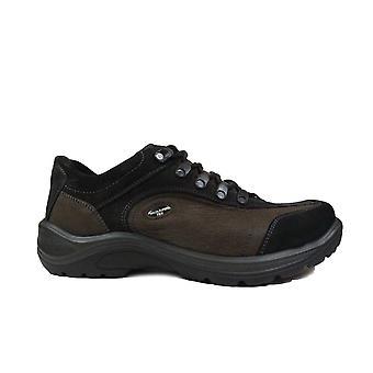 Waldläufer Hayo 415901 303 492 Brown Nubuck Leather Mens Lace Up Chaussures de marche