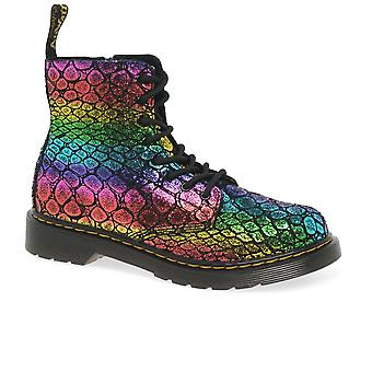 Dr. Martens 1460 Pascal Croc Girls Senior Boots
