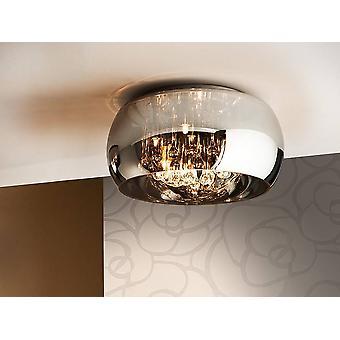 Schuller Argos - 5 light dimmable Crystal Flush Ceiling Light z pilotem Chrom, Lustro, G9