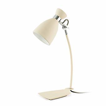Faro Retro - 1 vaalea retropöytälamppu valkoinen, beige, E14