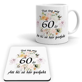 60s Birthday Mug + Coaster Package