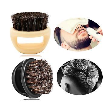 Villsvin bust hår, bærbare menn's barberbørste