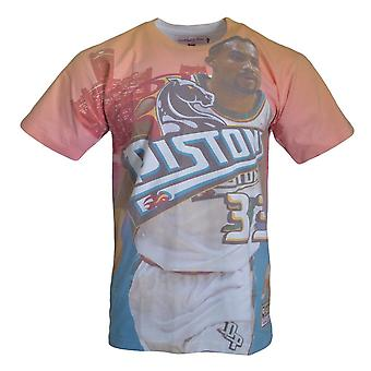 Mitchell & Ness City Pride MN Detroit Pistons Grant Hill NBA BMTRKT18007DPITEALGHI basquete o ano todo t-shirt masculino