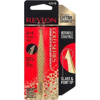 Revlon Beauty Tools Gold Series Slant Point Tweezers