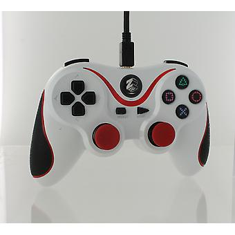 Wired gamepad controller for sony ps3 with extra long 3m cable - white & red