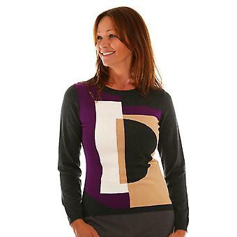 EUGEN KLEIN Eugen Klein Grey And Purple Sweater 8536 02070