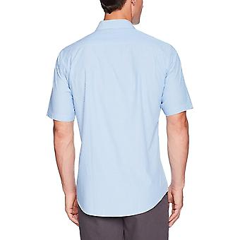 Essentials Men's Regular-Fit Tricou Casual Poplin cu mânecă scurtă, albastru st...