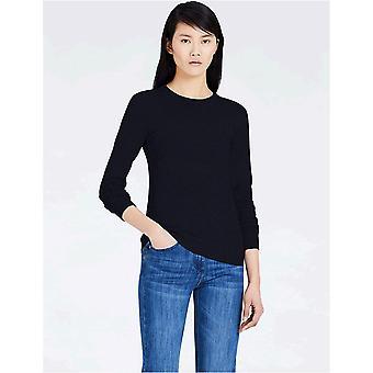 MERAKI Women's Cotton Crew Neck Sweater,  Blue (Navy), EU S (US 4-6)