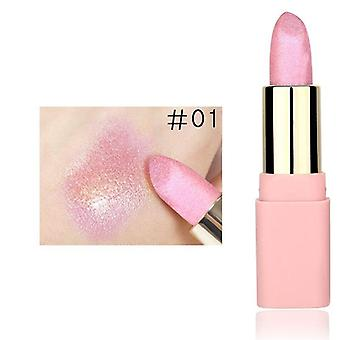 Glitter Metallic Lipstick Highlighter Waterproof Makeup Cosmetic