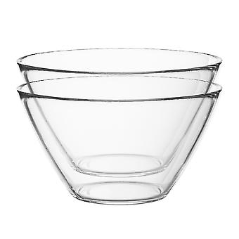 Bormioli Rocco 6pc Basic Glass Kitchen Mixing Bowl Set - Small Bowls for Preparation and Service - 435ml