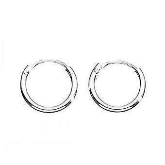 Inizio Sterling Silver H040 Plain Hoop Orecchini