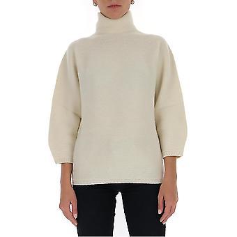 Max Mara 13660603600094008 Women's White Wool Sweater