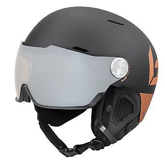 Bolle Might Visor Premium Ski Helmet - Matte Black / Blush Gold