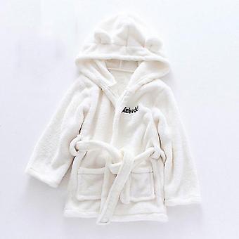 Autumn / Winter Kids Sleepwear - Robe Flannel Warm Bathrobe /