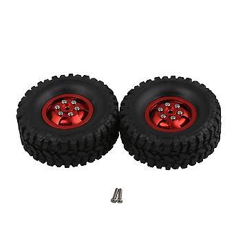 2x Fata spate anvelope de cauciuc Jante red wheel pentru WPL RC1:16 Militar Truck