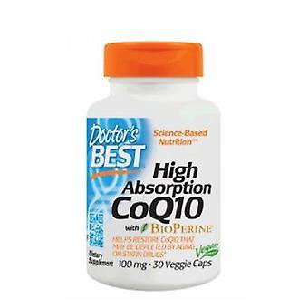 Lääkärit paras korkea imeytyminen CoQ10 bioperine, 100 mg, 30 veg caps