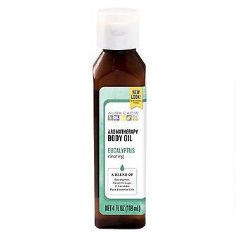 Aura Cacia Úroda Aromaterapia Telesný olej, Eukalyptus Úroda
