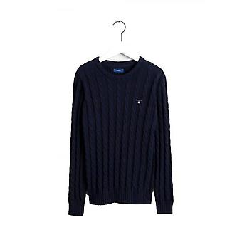 GANT Kids Blue Cable Knitted Jumper