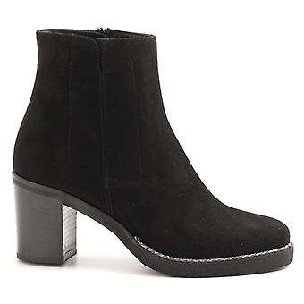 Tronchetto Luca Grossi Black Suede With Heel
