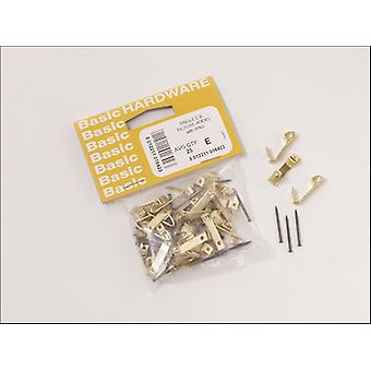Basics Prepacked Picture Hooks No 1 Electro Brass x 25 16423