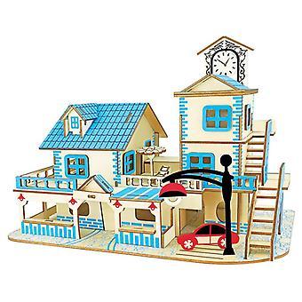 Entwickeln Kinder Intelligenz Holz 3D Puzzle 90 Stück - Liebe Ägäis