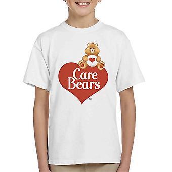 Care Bears Logo Tenderheart Bear Kid's T-paita