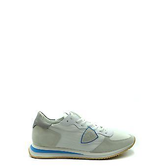 Philippe Model Ezbc019070 Men's White Fabric Sneakers