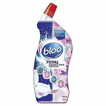 Bloo limpiador de inodoros con fragancia, gel rosa, ráfaga de flores 6pk de 700ml