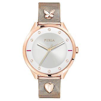 Furla Women'S Pin White Dial  Band Watch