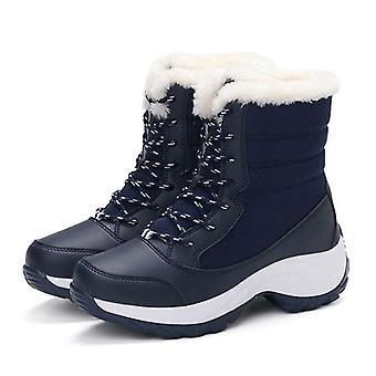 أحذية منصة مقاومة للماء في فصل الشتاء