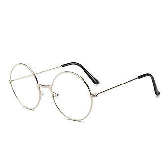 Vintage Lasit Pyöreä Metalli Kehys Silmälasit, Riista silmäsuoja lasi