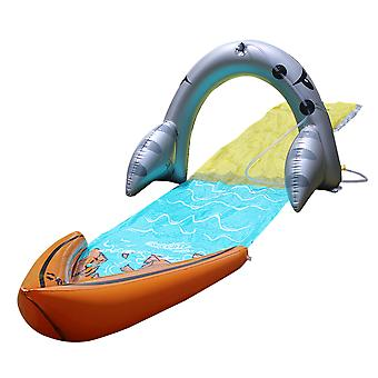Outdoor Pirate Shark Arch Kids Waterslide