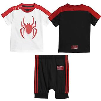 Adidas Kids Marvel Spider-Man Boys Summer Shorts T-Shirt Set DV0833