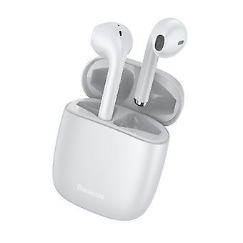 سماعات الأذن اللاسلكية بلوتوث الأبيض - W04