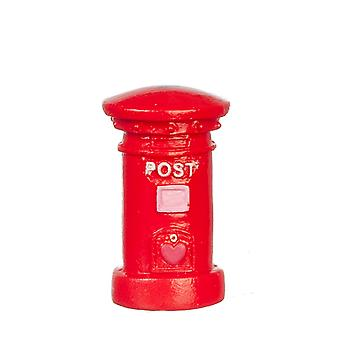 Dolls House Red British Post Office Lettera Mail Pillar Box Accessorio in miniatura