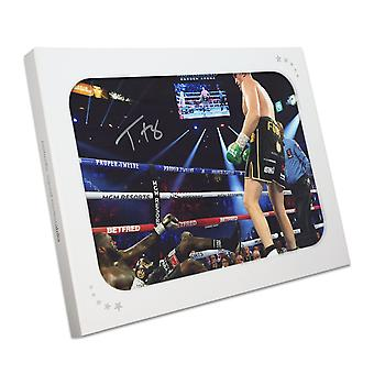 Tyson Fury Signed Boxing Photo: Fury vs Wilder 2 In Gift Box