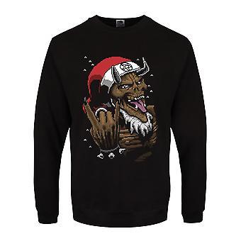 Grindstore Menns Satan Rocks Christmas Jumper